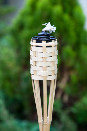 Decoration tiki oil torche for lighting or insect repellent.