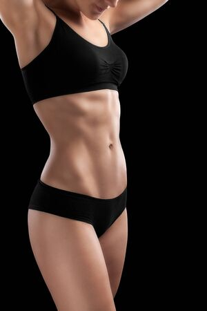 female sexuality: Sexy athletic body of woman.