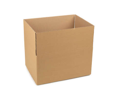 Cardboard box on a white isolated background.