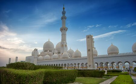 abudhabi: Sheik Zayed Mosque, Abu Dhabi, UAE. Stock Photo