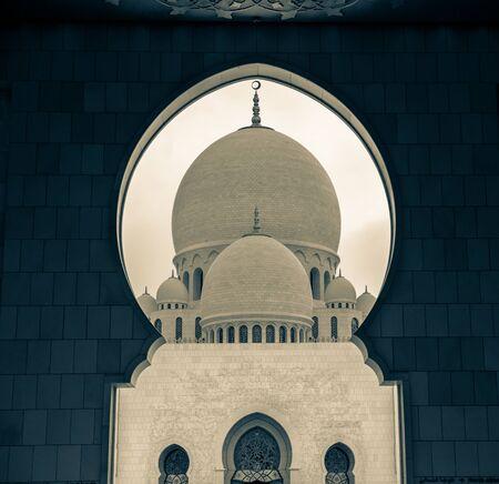 sheik: Sheik Zayed Mosque, Abu Dhabi, UAE. Stock Photo
