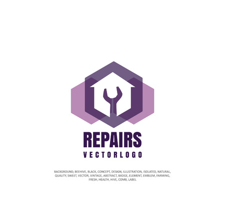 Apartment repair icon, company icon for repair and restoration of real estate, object of silhouette. Vector illustration, concept of repair. Ilustrace