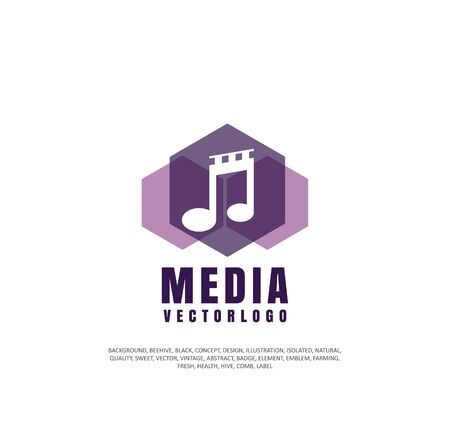 Sound track icon concept Illusztráció