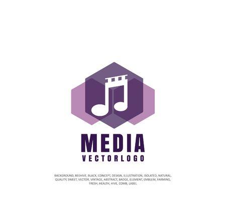 Sound track icon concept Illustration