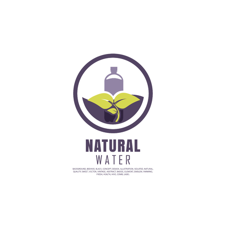 Organic farming logo design idea. Good food symbol concept. Farm fresh products unique sign or icon art.