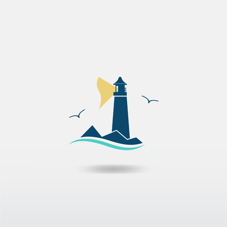 Lighthouse illustration. Raster copy