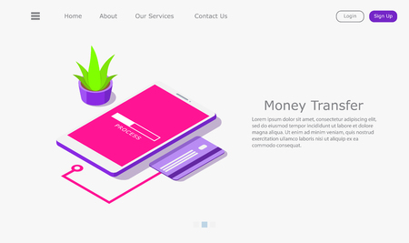 vivid illustration of transferring money to card Stock fotó - 120246402
