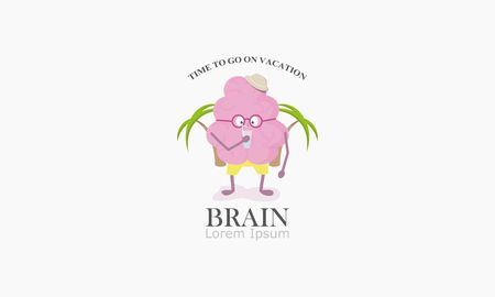 vacation icon, illustration of a brain vector