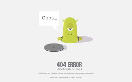 404 error, repair sign. Vector illustration, background for web pages. 向量圖像