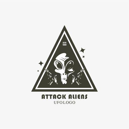 vector alien contact banner Vectores