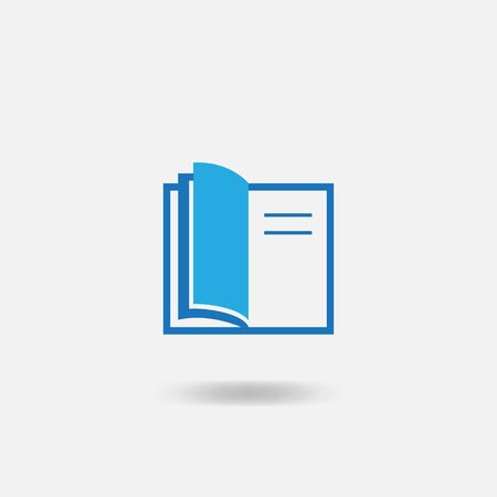 Book icon isolated on a gray background