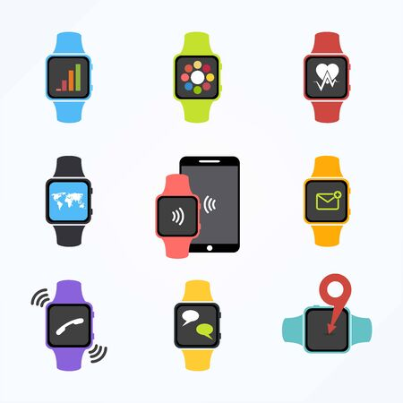 Vector Smart Watch Icons 向量圖像