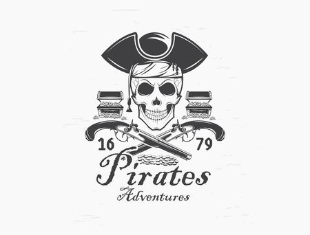 pirate skull Design element for emblem