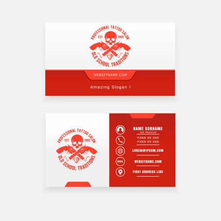 studio tattoo business cards