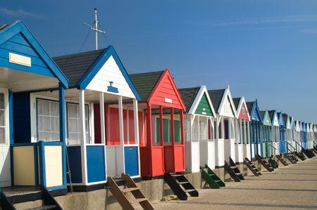 Beach huts, Southwold, Suffolk, England, UK