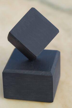 Black cubes Stock Photo