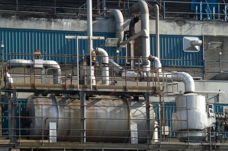 Detail of heat exchanging equipment in a chemical plant Stock Photo - 3058379