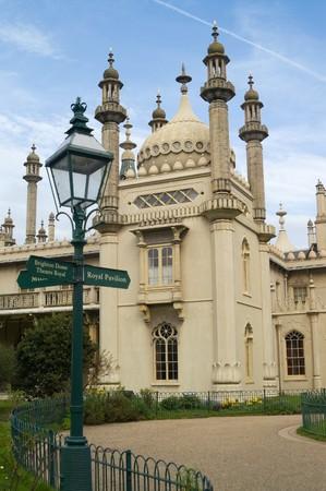 Detail of Brighton Pavilion against a nice blue sky photo