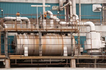 Detail of old rusty heat exchanger in a refinery Stock Photo - 4528429