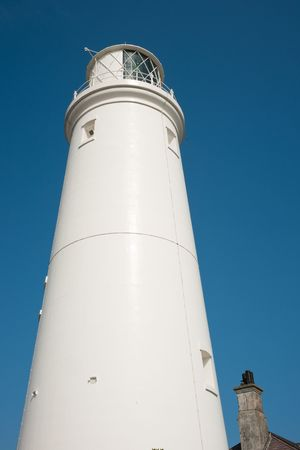 southwold: Southwold lighthouse against clear blue sky on a bright day