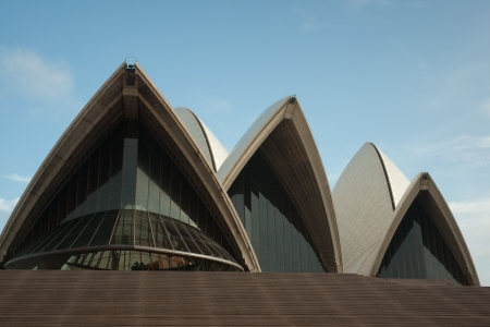 Sydney, Australia - 18 February 2011 : Sydney Opera House early in the morning against clear blue sky