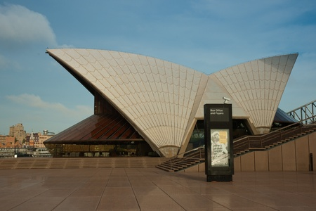 Sydney, Australia - 18 February 2011 : Detail of the Sydney Opera House ticket office
