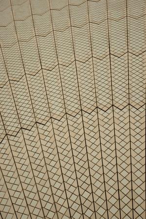 Sydney, Australia - 18 February 2011 : Detail of the Sydney Opera House roof tiles