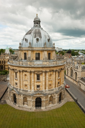 Radcliffe Camera in Oxford, England. A building that houses the Radcliffe Science Library Editorial