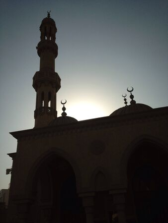 Mosque silhouette Stock Photo