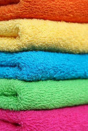 orange washcloth: Towels