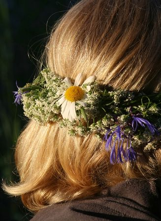 Flowers on the head