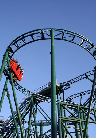 disneyland: Roller coaster Stock Photo