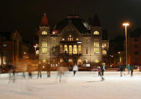 winter finland: Skating in Helsinki