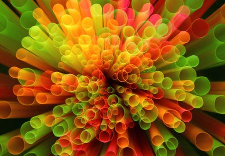 Straws abstract