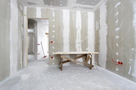 plaster wall: Casa en construcci�n