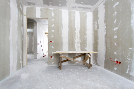 gypsum: House under construction