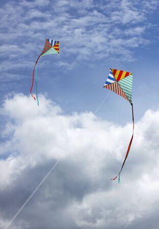 colourful sky: Kites in the sky