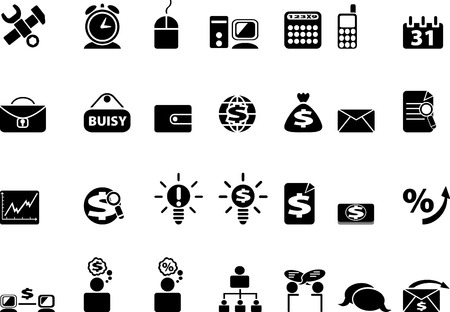 Black web icons. illustration Stock Vector - 6758495