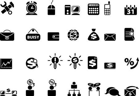 Black web icons. illustration Vector