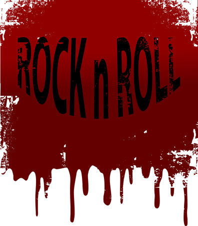 rock   roll: Grunge background.  illustration. Illustration