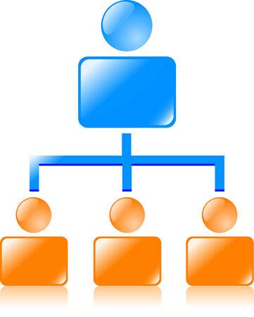Network icon. vector illustration. Vector