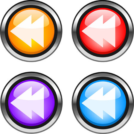 Set of color web buttons. vector illustration. Stock Vector - 6916490