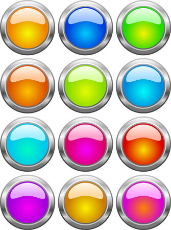 violette: Set of color web buttons. illustration.