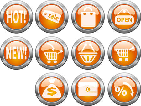 Set of color web buttons. vector illustration. Vector