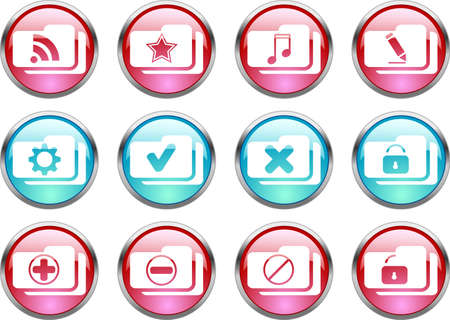 Set of color web buttons. vector illustration Vector
