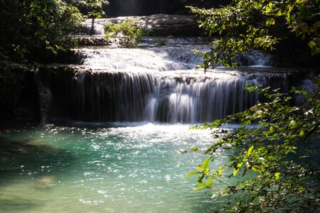Kanchanaburi nature water falls Thailand photo