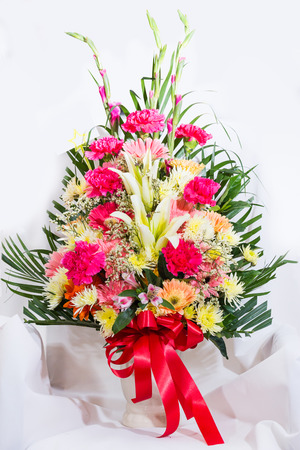 congratulate: Colorful flowers in the vase for congratulate