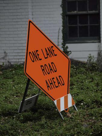 one lane street sign: One Lane Sign