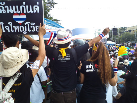 expel: 2013 - The protesting in Thailand to expel the corruption Government