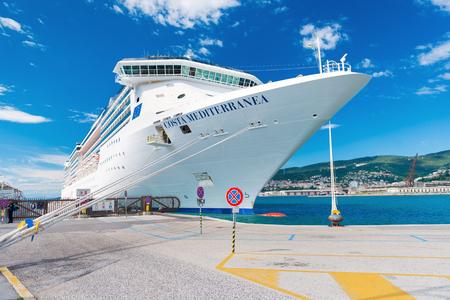 mediterranea: Trieste - August 2016, Italy: Italian Spirit-class Cruise ship Costa Mediterranea in port, Adriatic sea